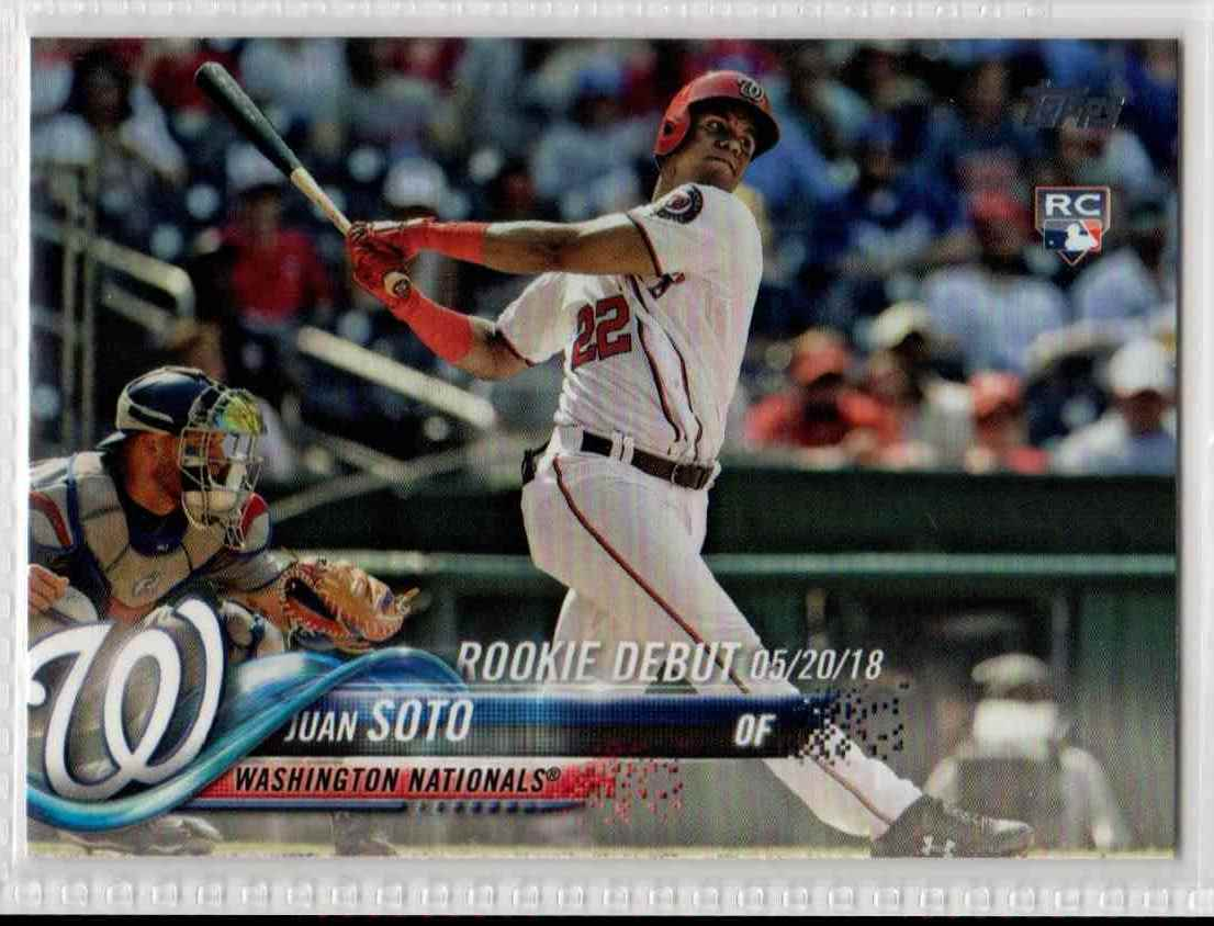 2018 Topps Update Juan Soto RD #US104 card front image
