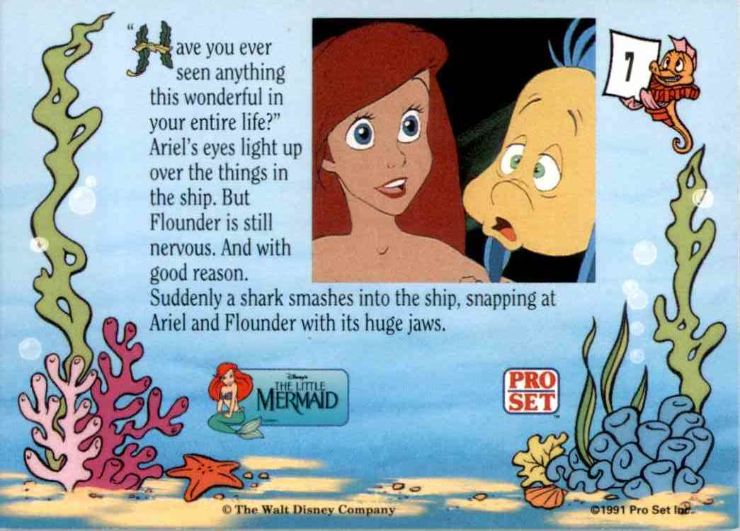 1991 Little Mermaid Have You Ever Seen Anything #7 card back image