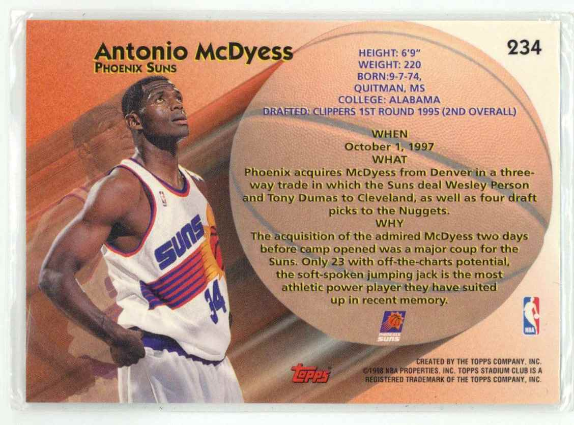 1998-99 Stadium Club Antonio McDyess #234 card back image