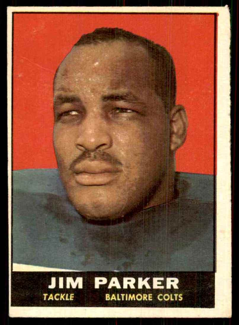 1961 Topps Jim Parker #6 card front image