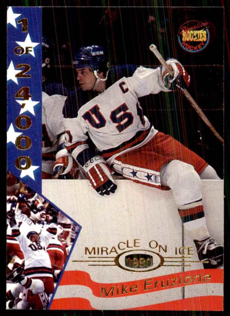 1995-96 Signature Rookies Miracle On Ice Mike Eruzione #11 card front image
