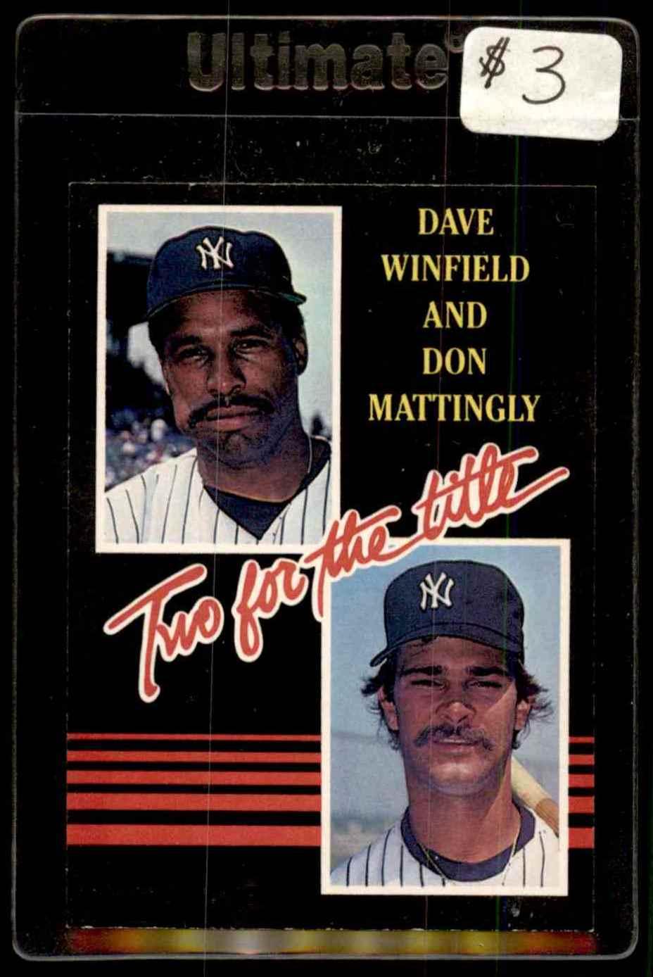 1985 Donruss Don Mattingly Dave Winfield 651 On Kronozio