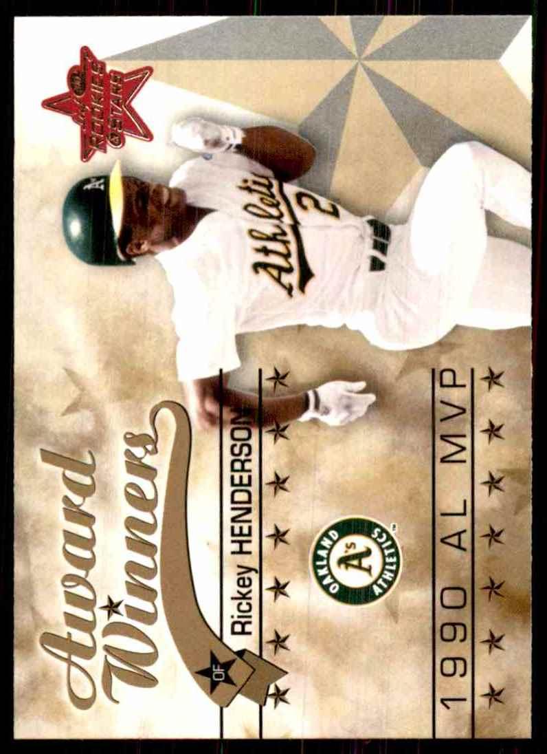 2002 Leaf Rookies & Stars Rickey Henderson 90 MVP #265 card front image