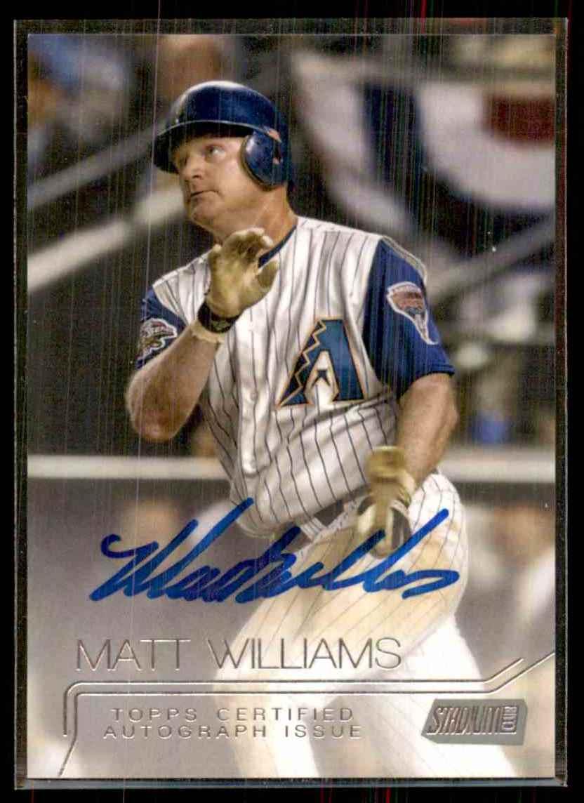 2015 Stadium Club Autographs Matt Williams #SCAMW card front image