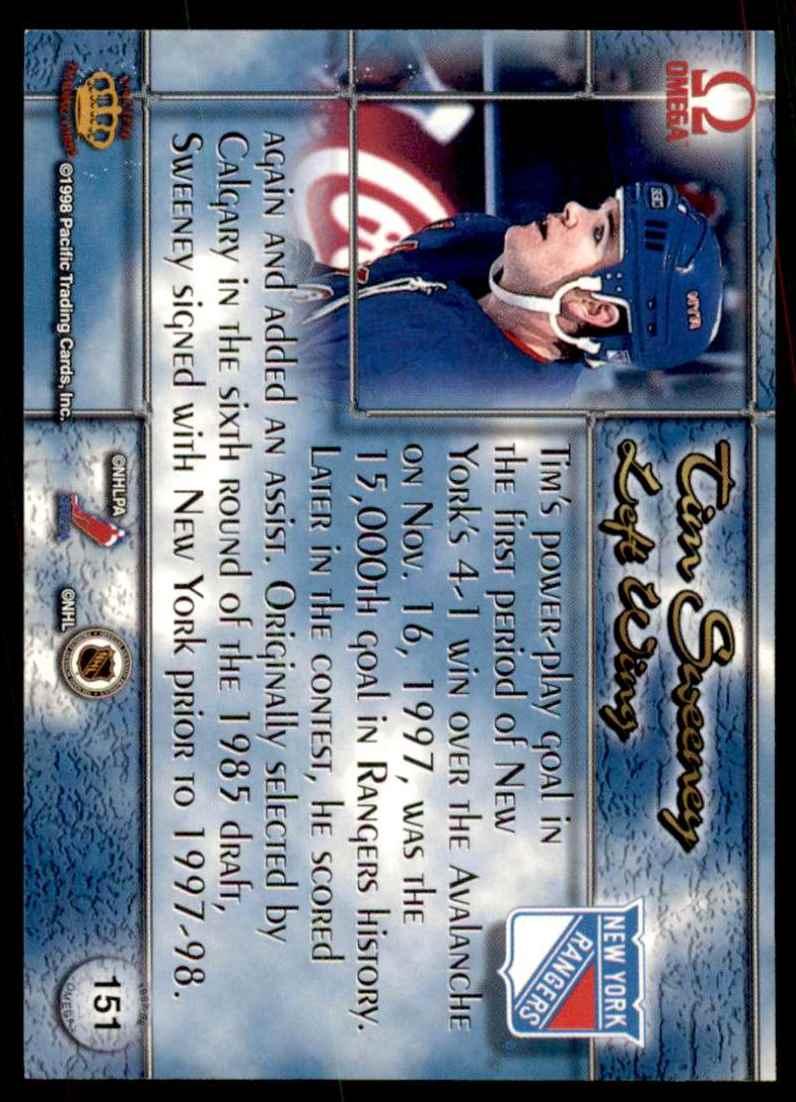 1997-98 Pacific Omega Tim Sweeney #151 card back image