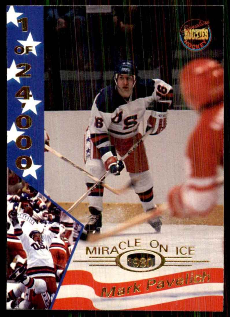 1995-96 Signature Rookies Miracle On Ice Mark Pavelich #26 card front image