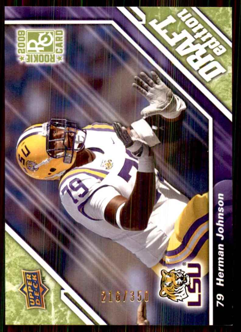 2009 Upper Deck Draft Edition Green Herman Johnson #42 card front image
