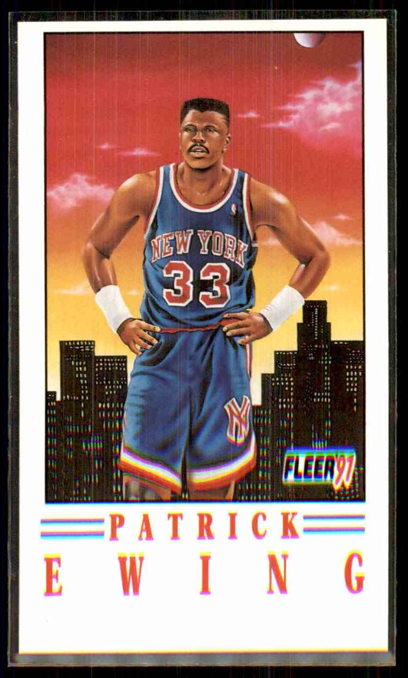 1991-92 Fleer Pro-Vision Patrick Ewing #4 card front image