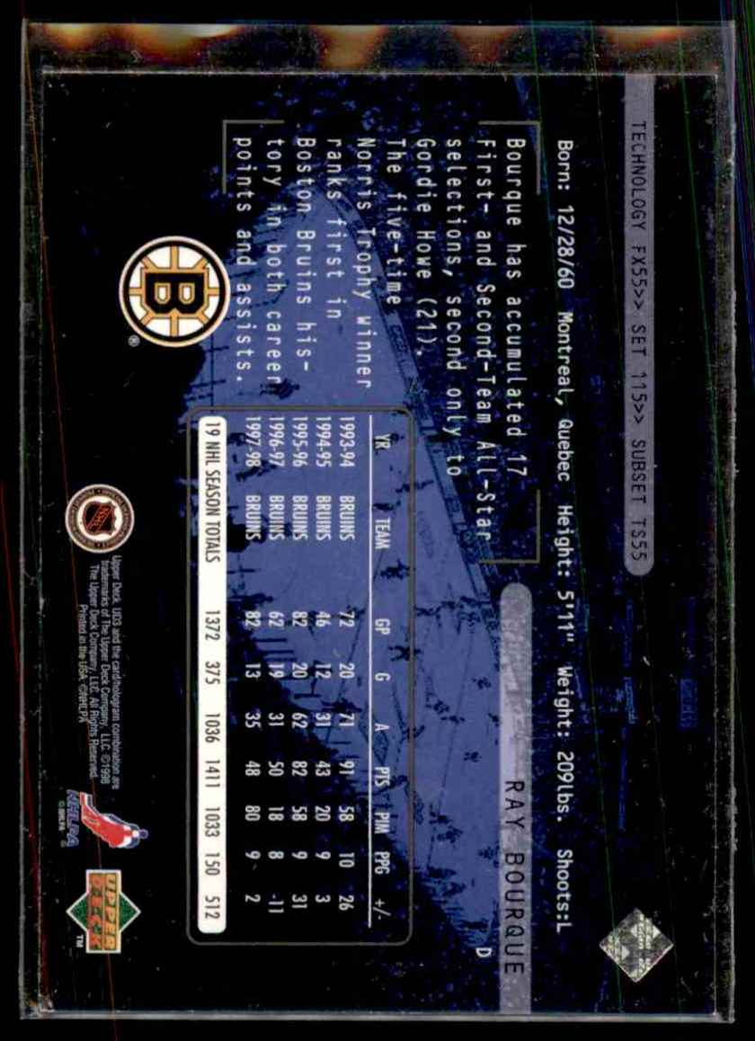 1998-99 Ud3 Ray Bourque #115 card back image