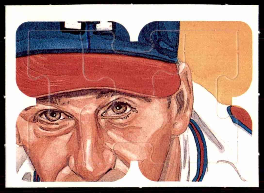 1988 Donruss Puzzle Mlb Warren Spahn Puzzle 22 24 22 On