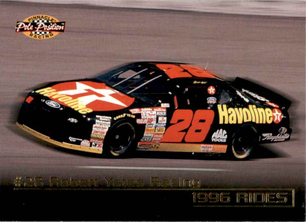 1996 Pinnacle Pole Position Ernie Irvan's Car #41 card front image