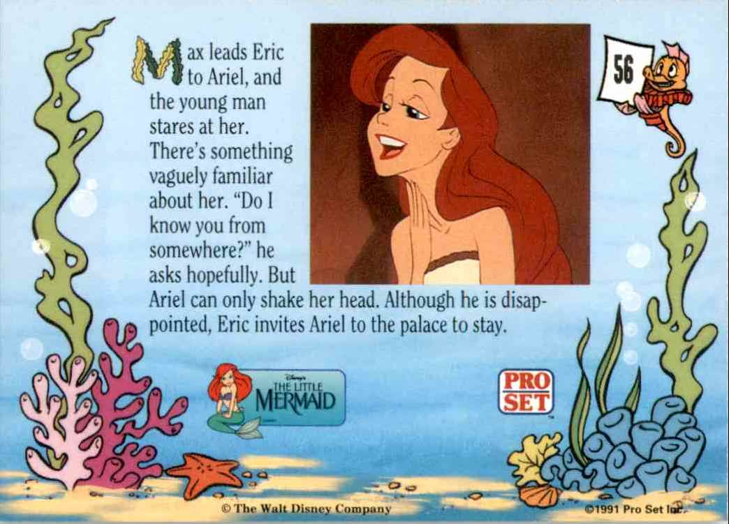 1991 Little Mermaid Max Leads Eric To Ariel #56 card back image