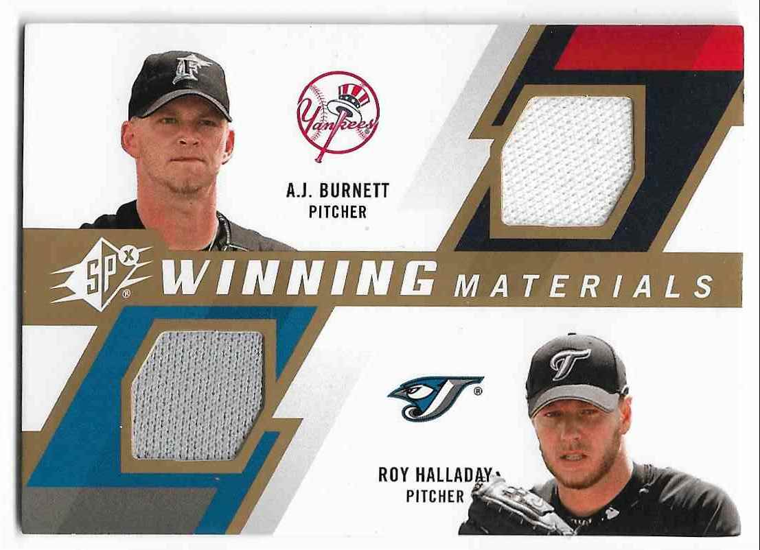 2005 Upper Deck SPx A.J. Burnett/Roy Halladay #WM2-BH card front image