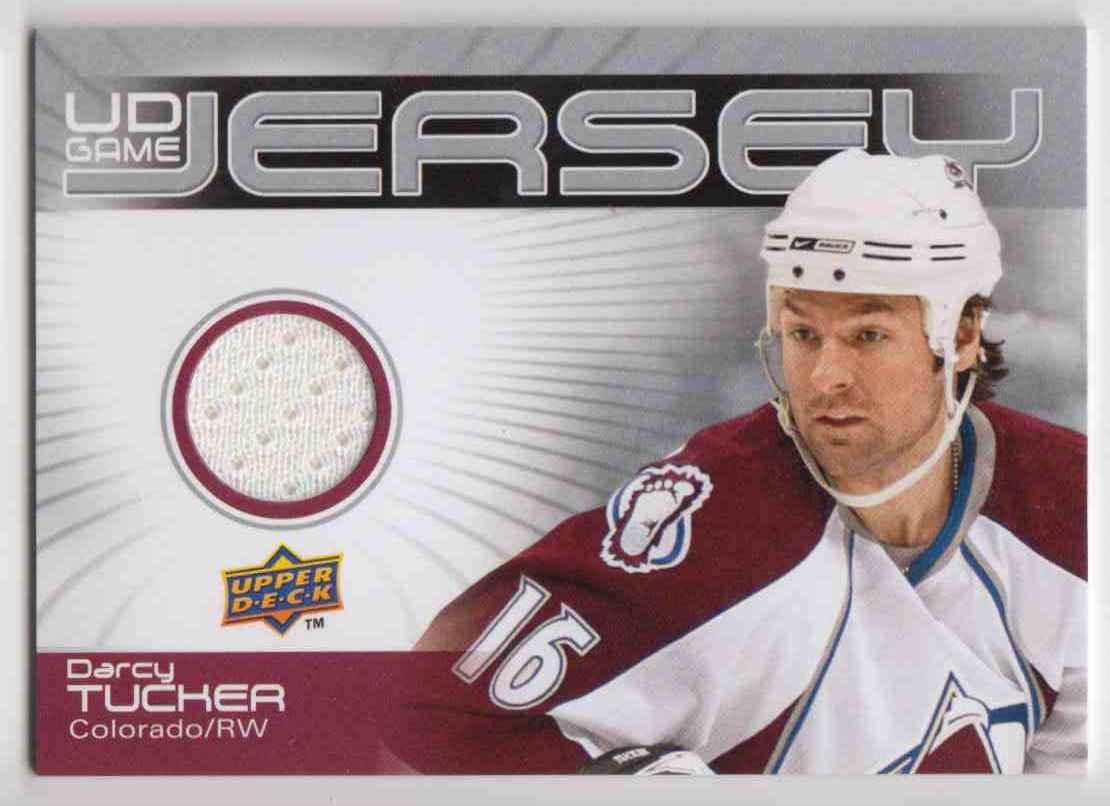 2010-11 Upper Deck Game Jerseys Darcy Tucker #GJ-DT card front image