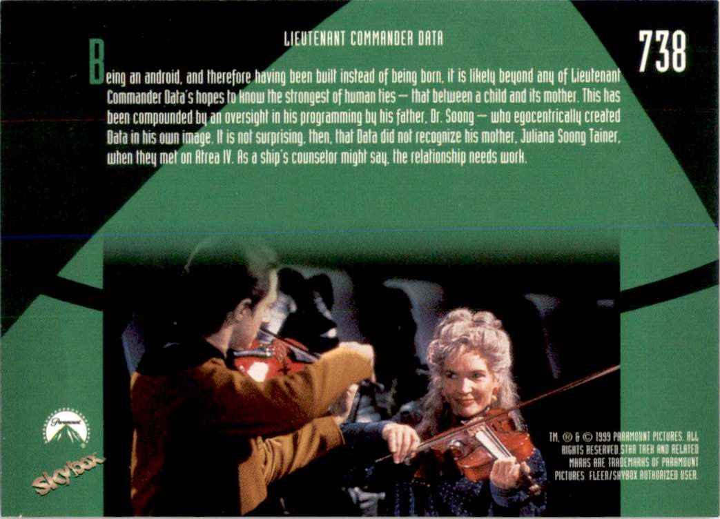 1994 Star Trek The Next Generation Episode Collection Juliana Soong Tainer #738 card back image