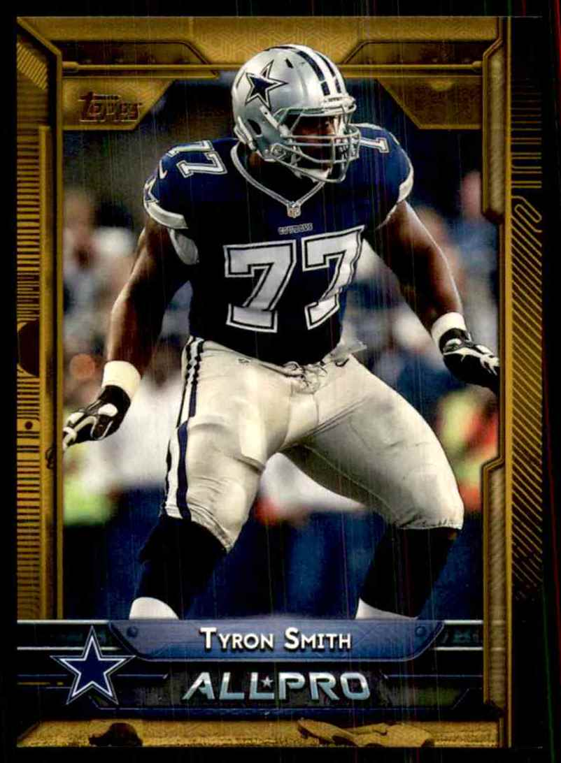 2015 Topps Gold Tyron Smith Ap #272 card front image