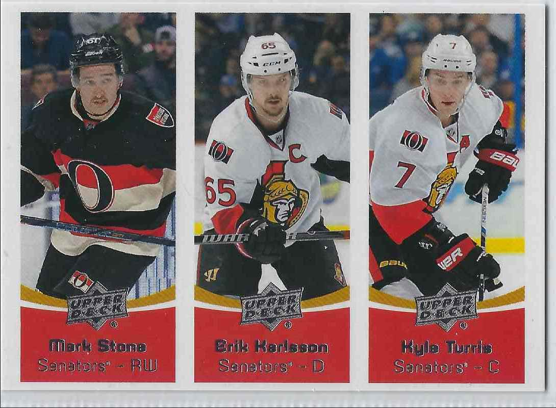 fe10c1c93 2016-17 Upper Deck Team Triples Mark Store   Erik Karlsson   Kyle Turris