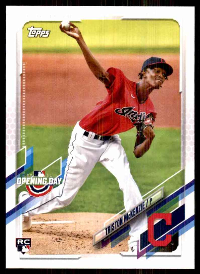 2021 Topps Opening Day Triston McKenzie RC #74 card front image