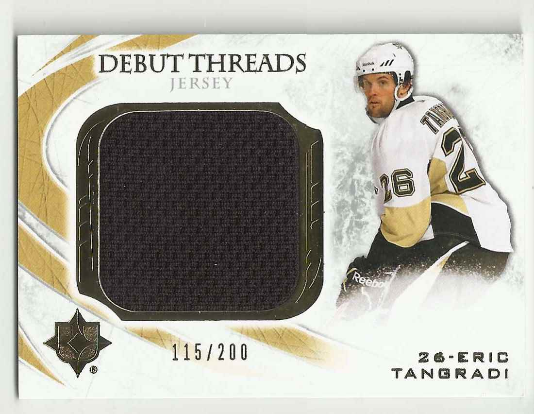 2010-11 Ultimate Collection Debut Threads Eric Tangradi #DT-ET card front image