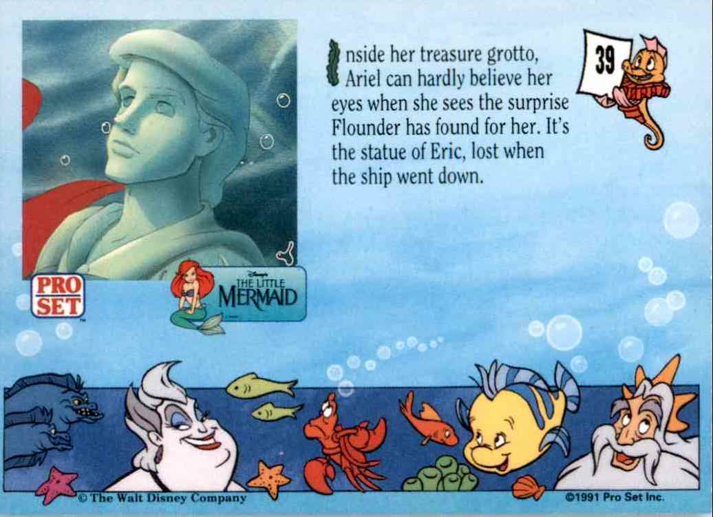 1991 Little Mermaid Inside Her Treasure Grotto #39 card back image