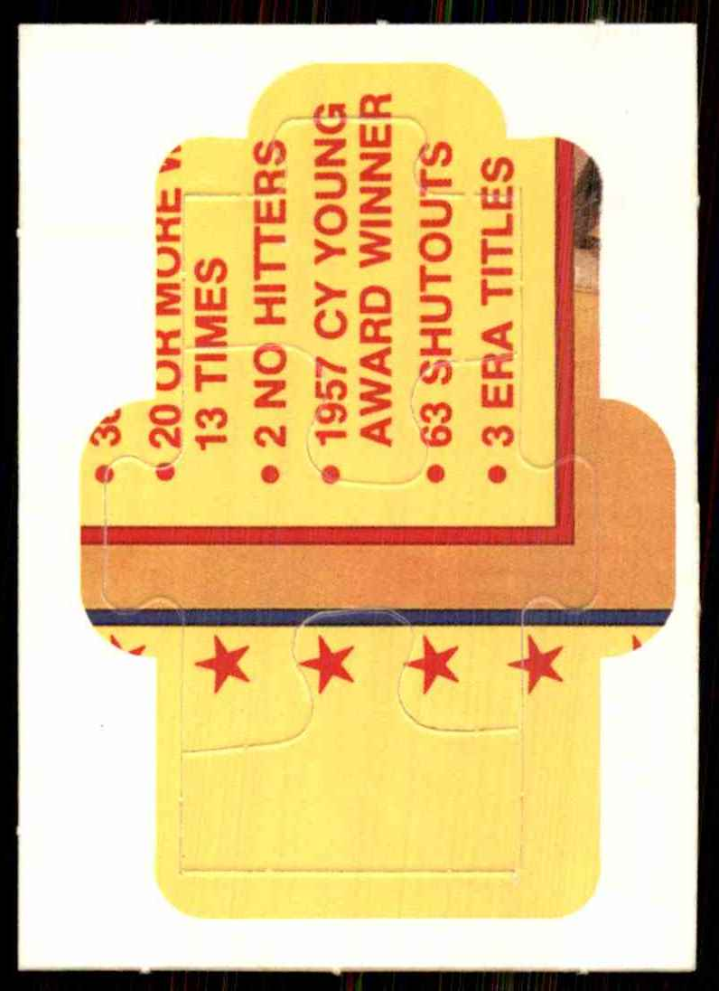 1989 Donruss Warren Spahn Puzzle Spahn Puzzle 46-48 #46 card front image