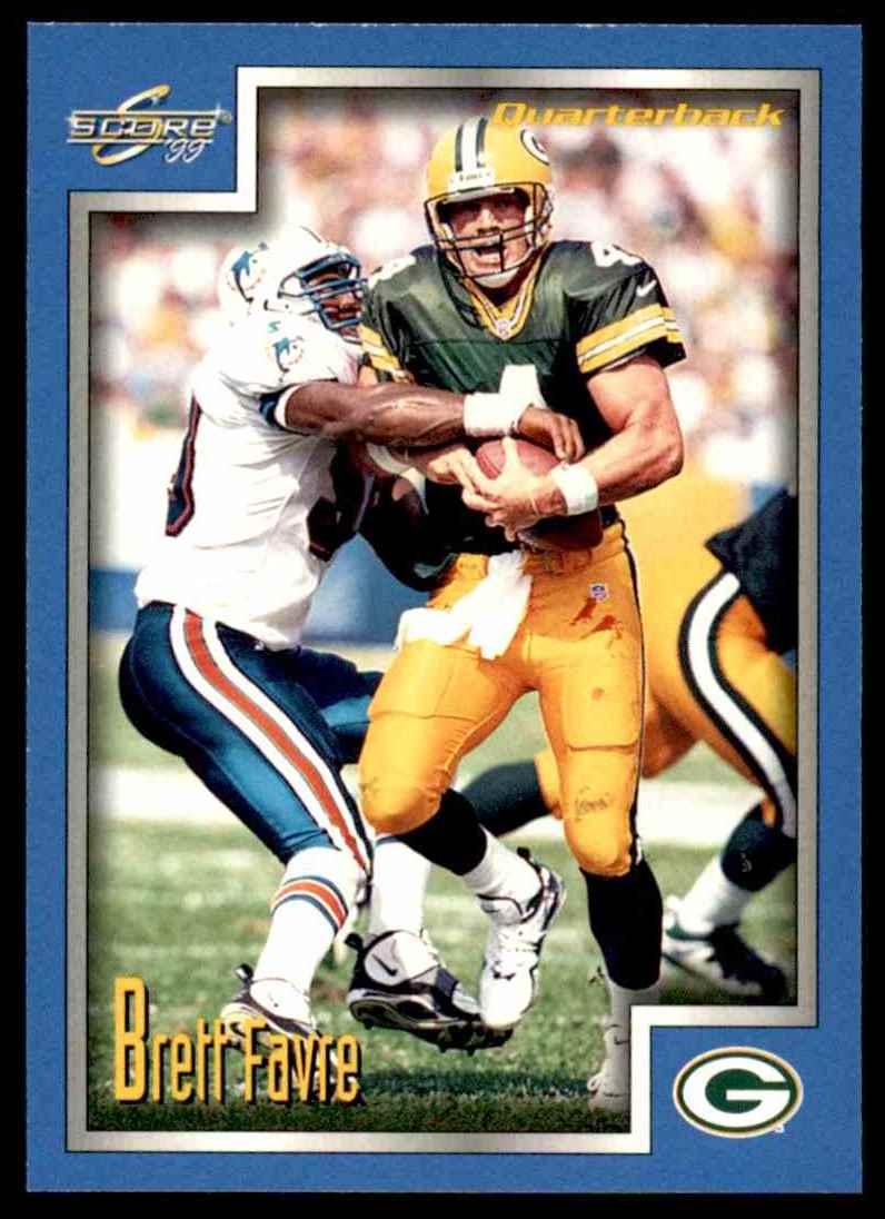 1999 Score Brett Favre 8 Card Front Image
