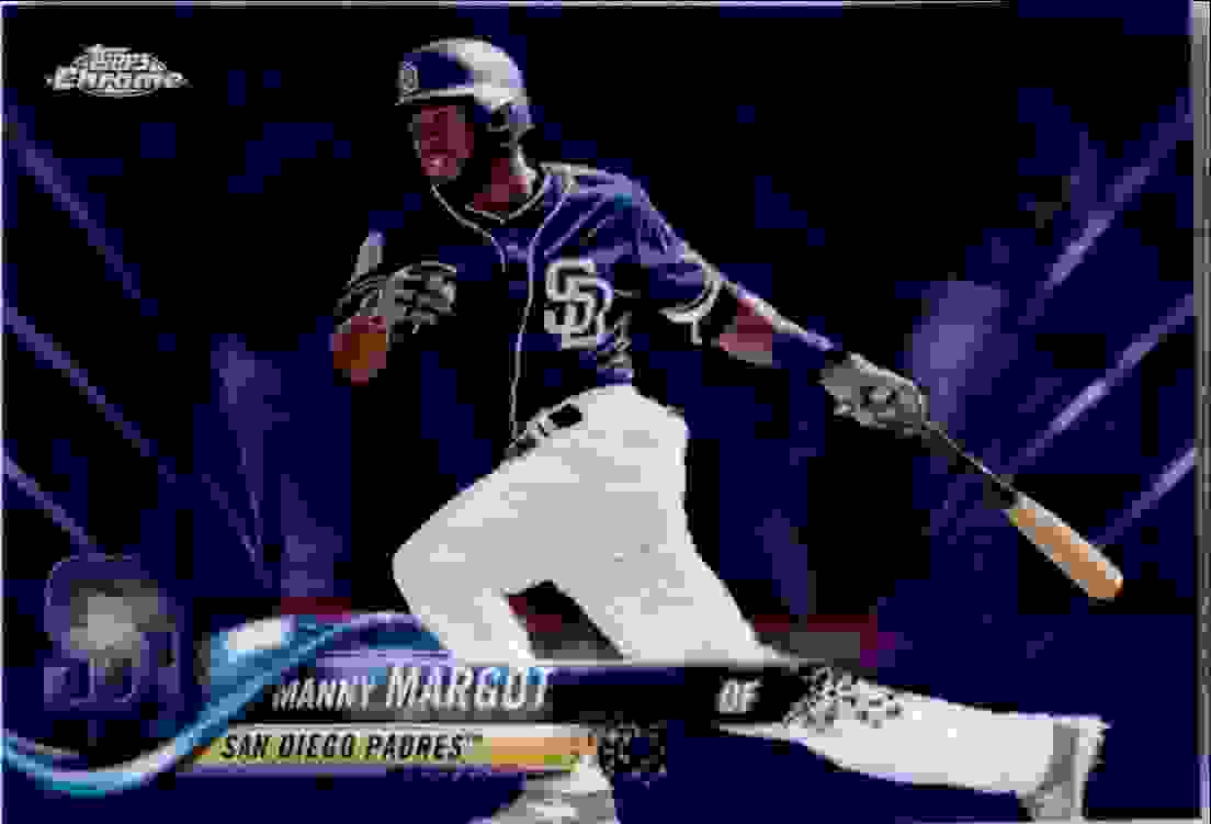 2018 Topps Chrome Purple Refractor Manny Margot #62 card front image