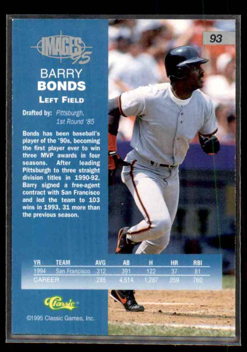 1995 Images Barry Bonds #93 on Kronozio