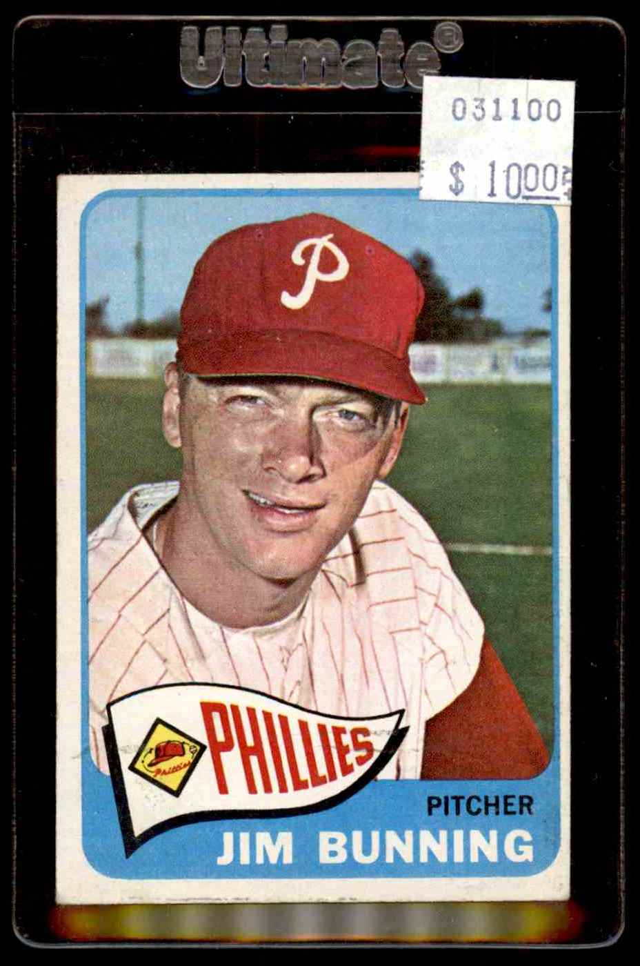1965 Topps Jim Bunning #20 card front image