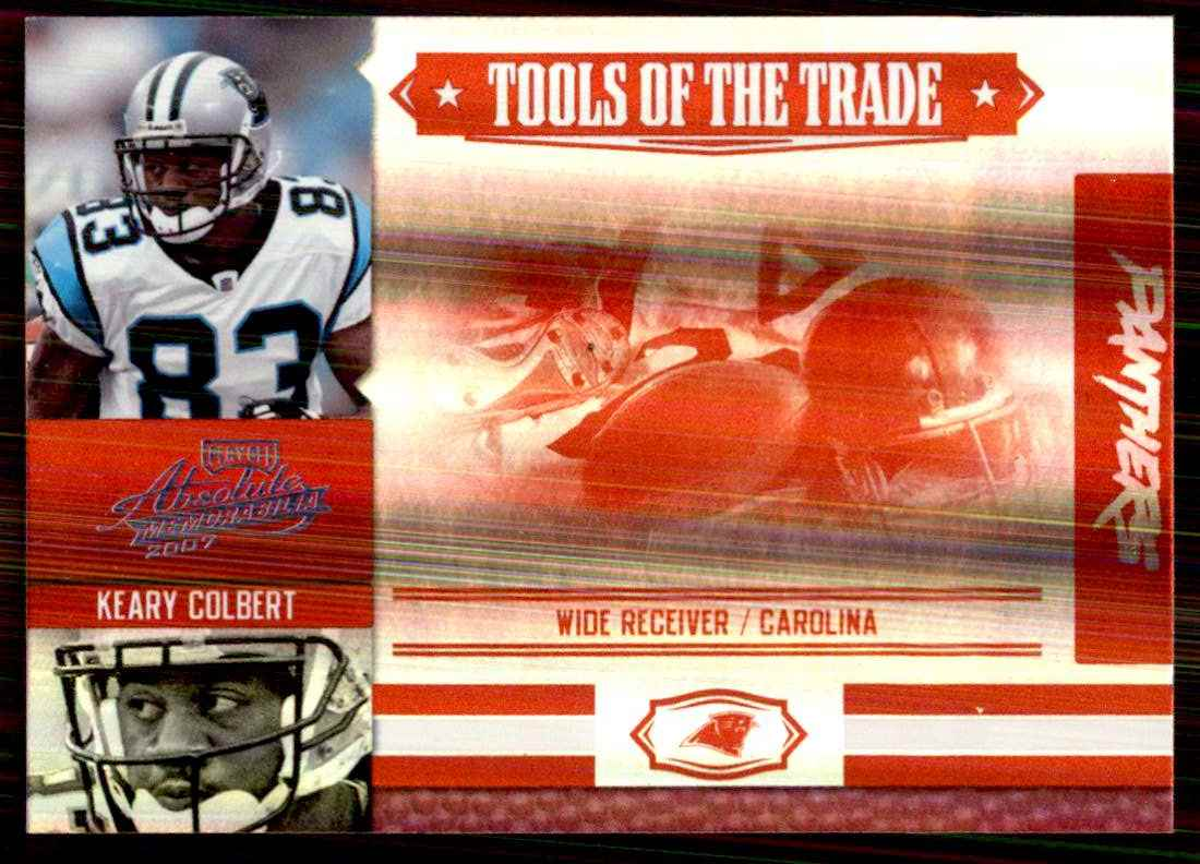 2007 Absolute Memorabilia Tools Of The Trade Red Spectrum Keary Colbert #87 card front image