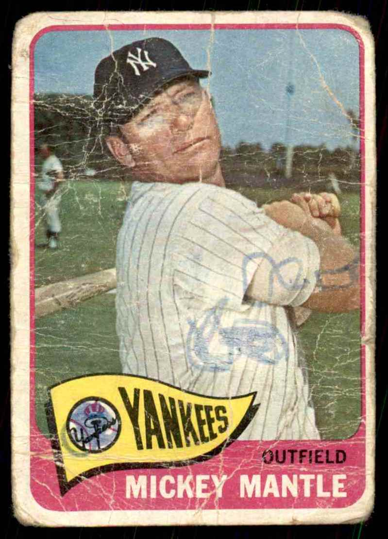 1965 Topps Mickey Mantle #350 card front image