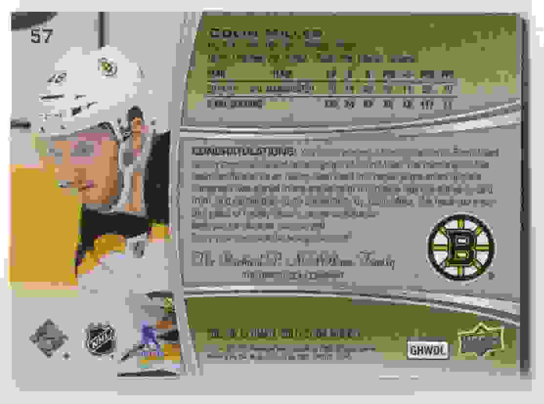 2015-16 Upper Deck Ultimate Collection Silver Colin Miller #57 card back image