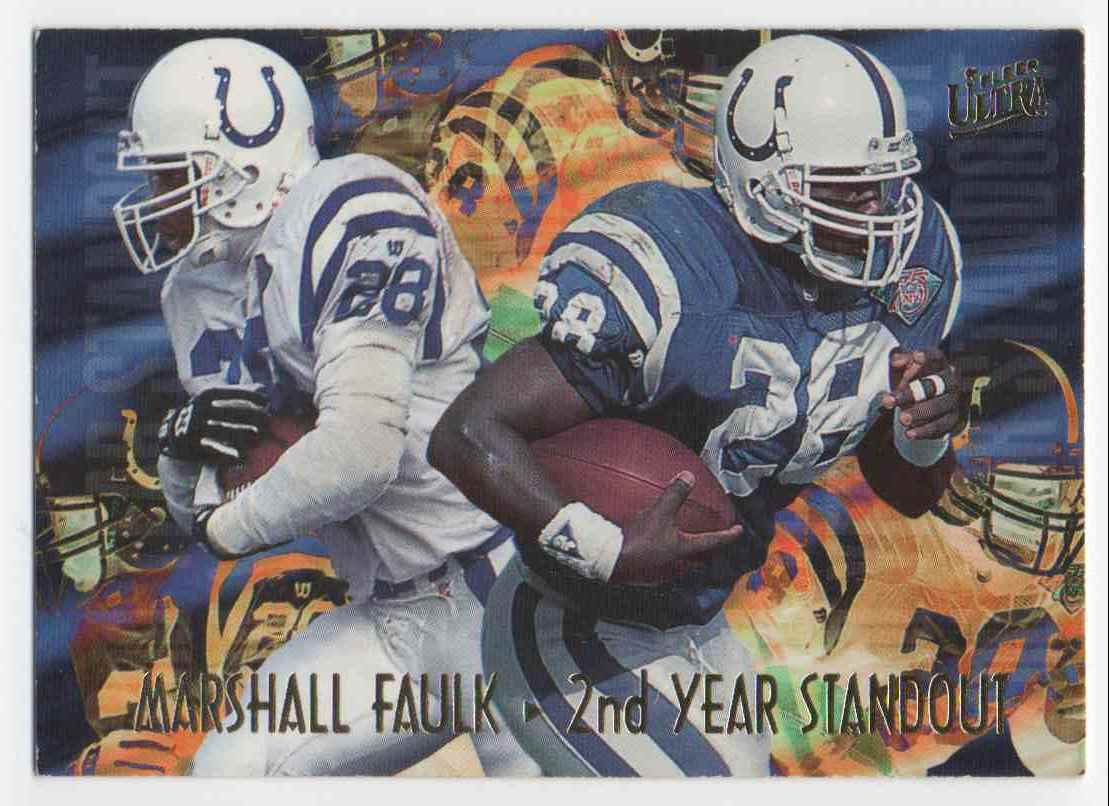1995 Ultra 2nd Year Standout Marshall Faulk #5 card front image