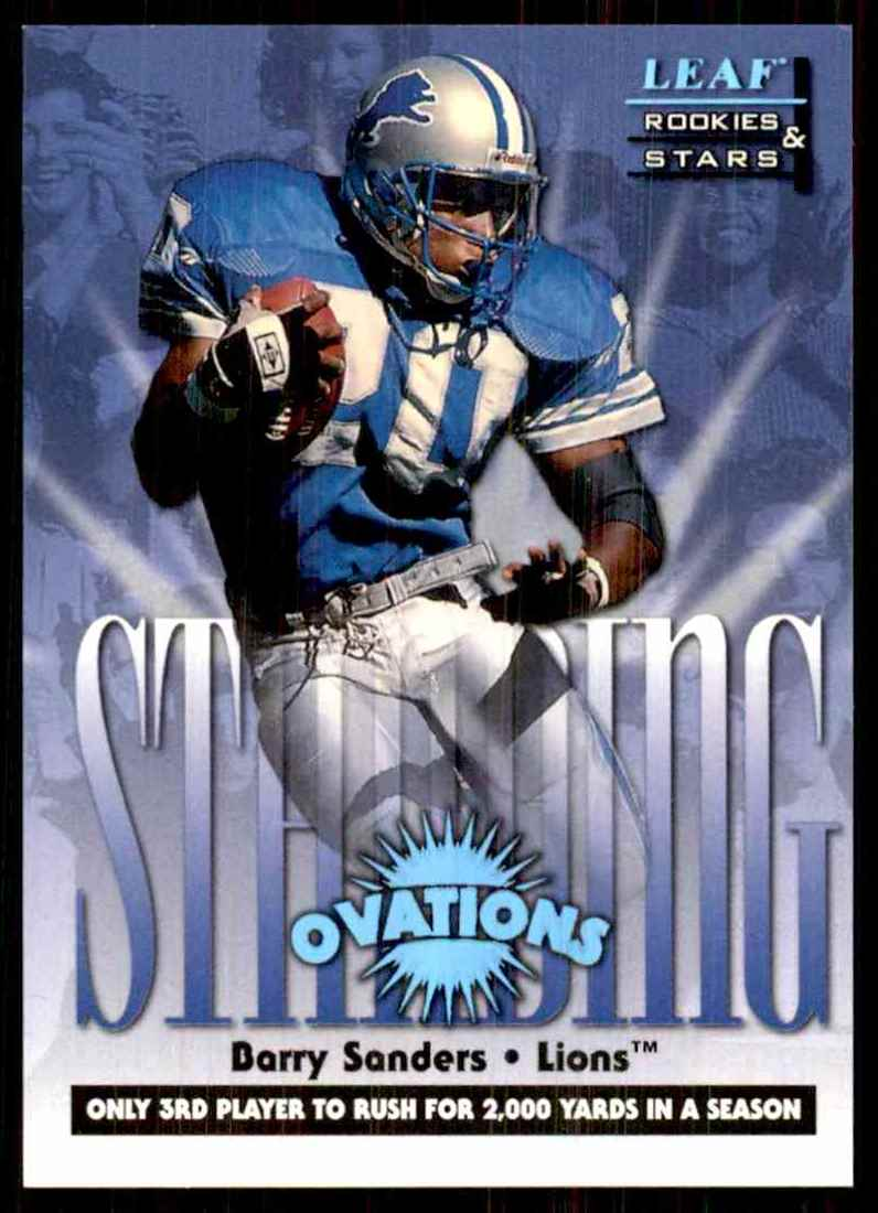 1998 Leaf Rookies & Stars Standing Ovation Barry Sanders #4 card front image