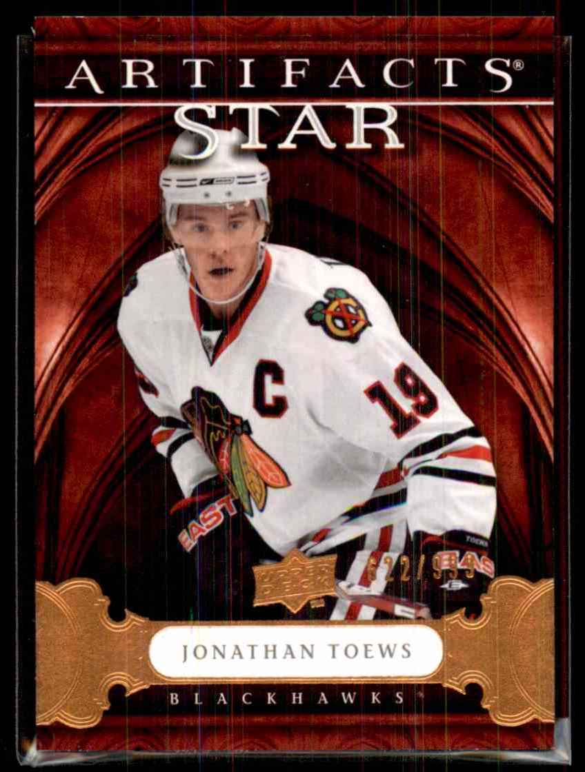 2009-10 Upper Deck Artifacts Jonathan Toews S #137 card front image
