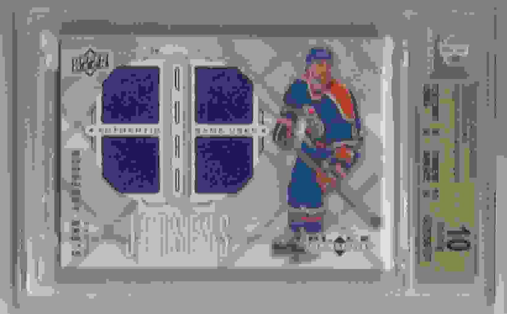 2009-10 Black Diamond Jerseys Quad Glenn Anderson #QJ-GA card front image