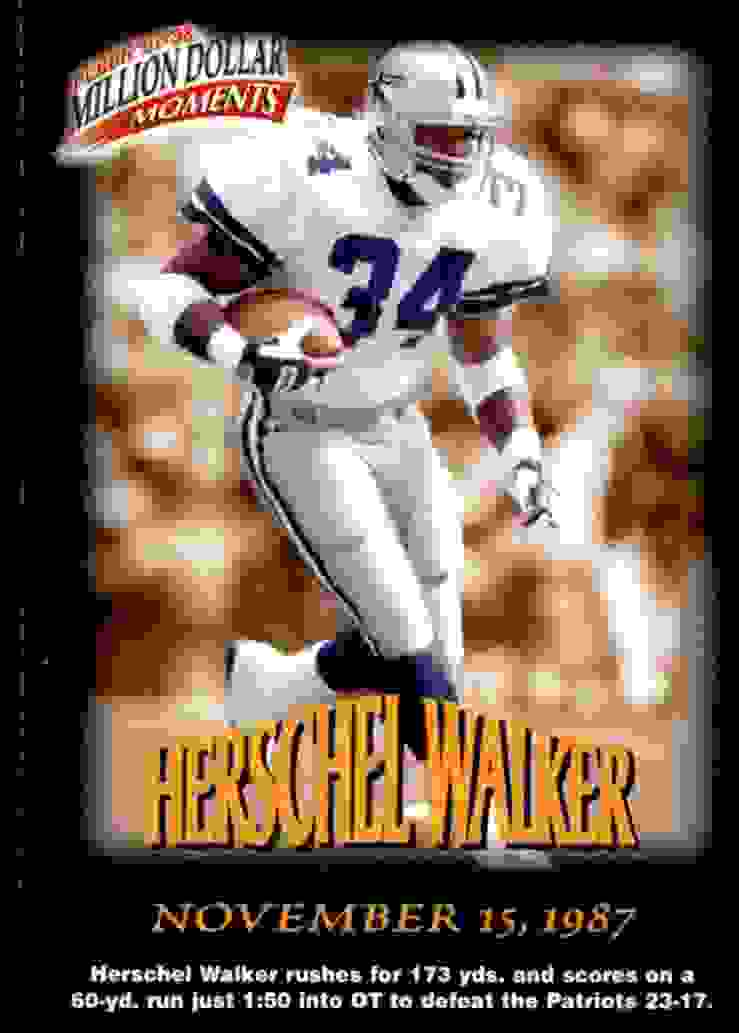 1997 Fleer Million Dollar Moments Herschel Walker #12 card front image