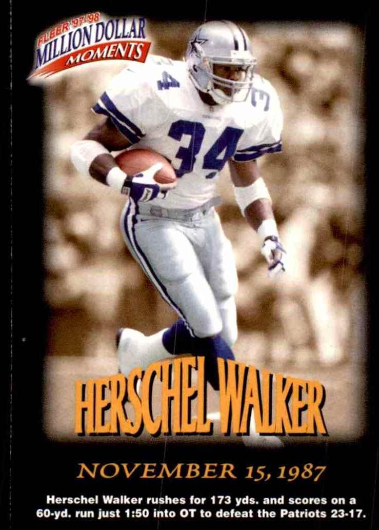 1997 Fleer Million Dollar Moments Herschel Walker #12 card front image