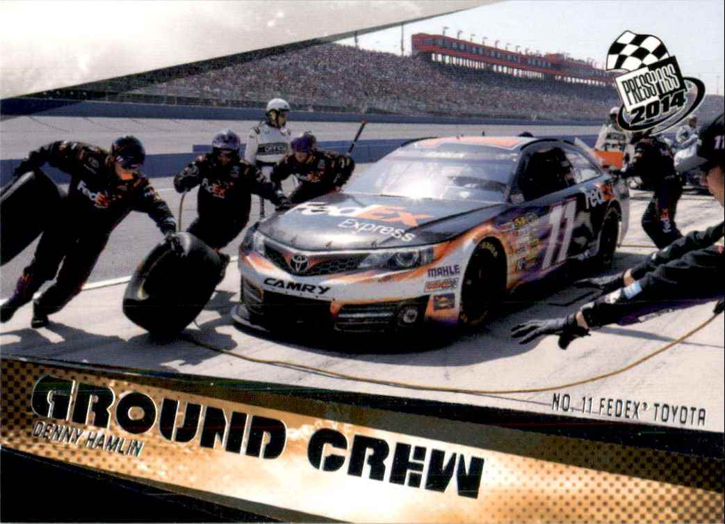 2014 Press Pass Denny Hamlin's Car Gc #73 card front image