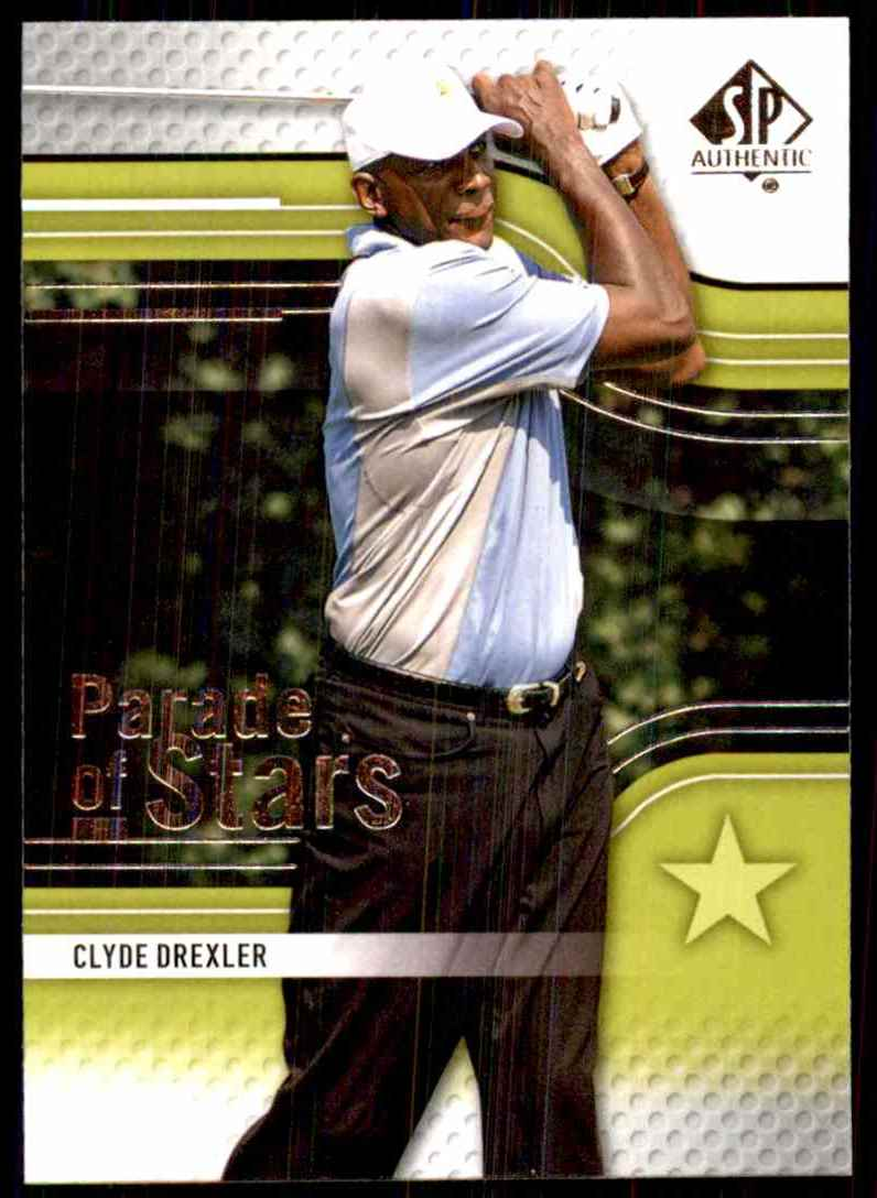 2012 SP Authentic Clyde Drexler Ps #65 card front image