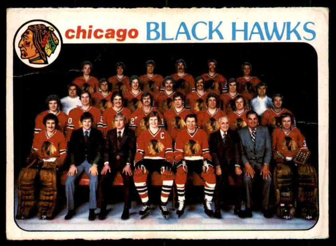 1978-79 O-Pee-Chee Chicago Blackhawks Checklist #195 card front image