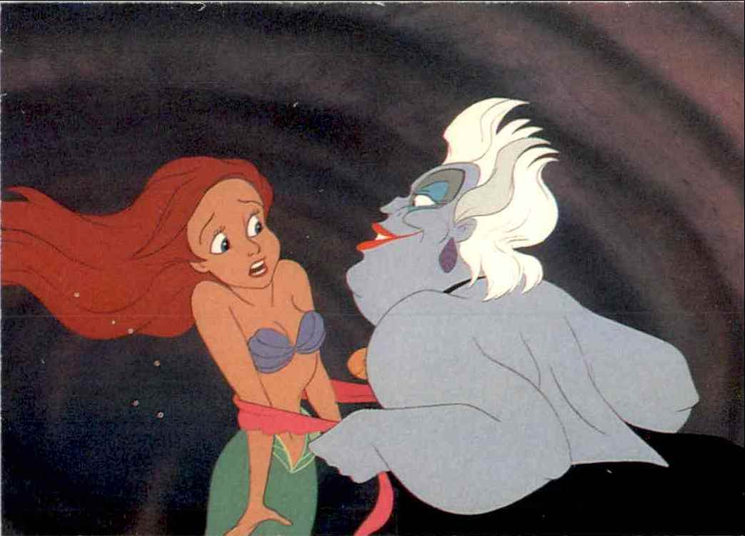 1991 Little Mermaid Ursual Pretends To Offer Ariel Help #49 card front image