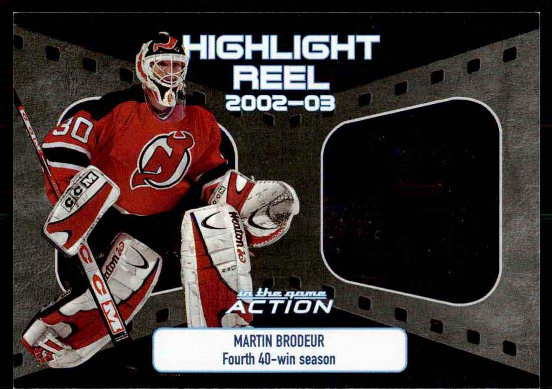 2003 04 Action Highlight Reel Martin Brodeur New Jersey Devils Hr 3