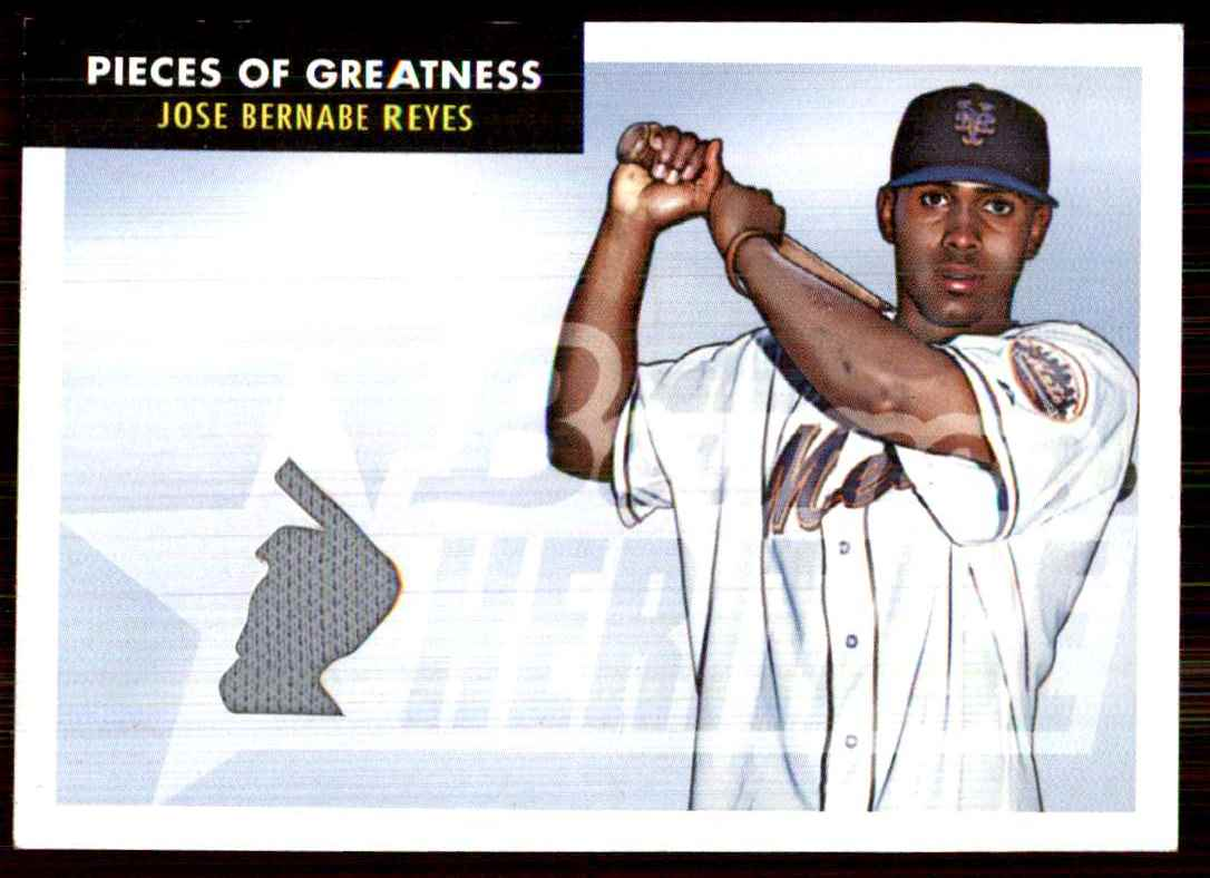 2007 Bowman Heritage Pieces Of Greatness Jose Reyes Jsy B #JR card front image