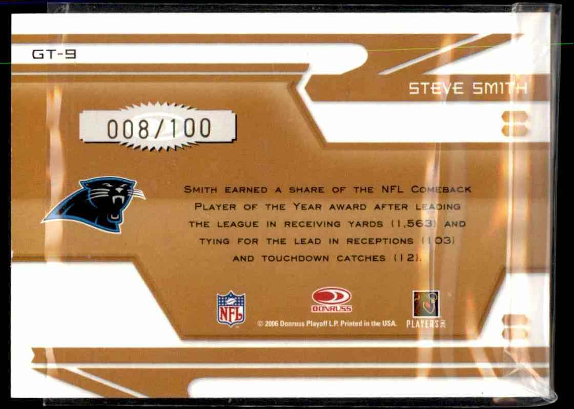 2006 Leaf Certified Materials Gold Team Mirror Steve Smith #9 card back image