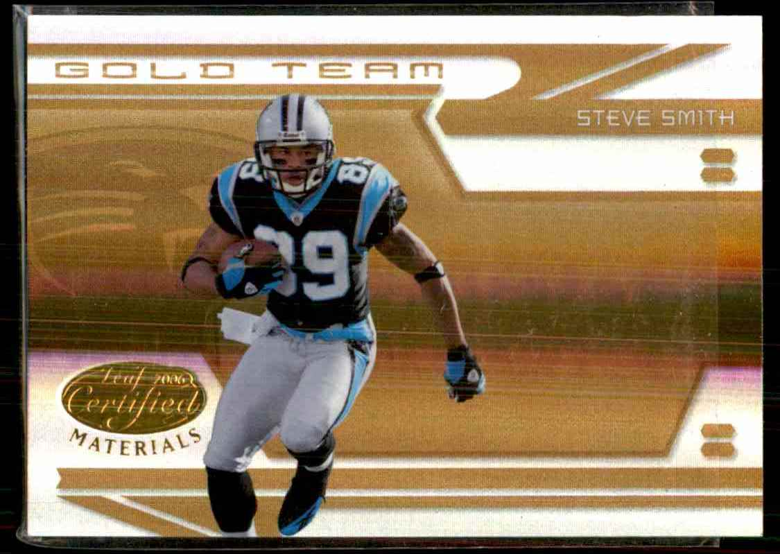 2006 Leaf Certified Materials Gold Team Mirror Steve Smith #9 card front image