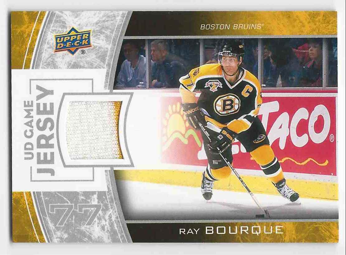 2013-14 Upper Deck Game Jerseys Ray Bourque #GJ-RB card front image