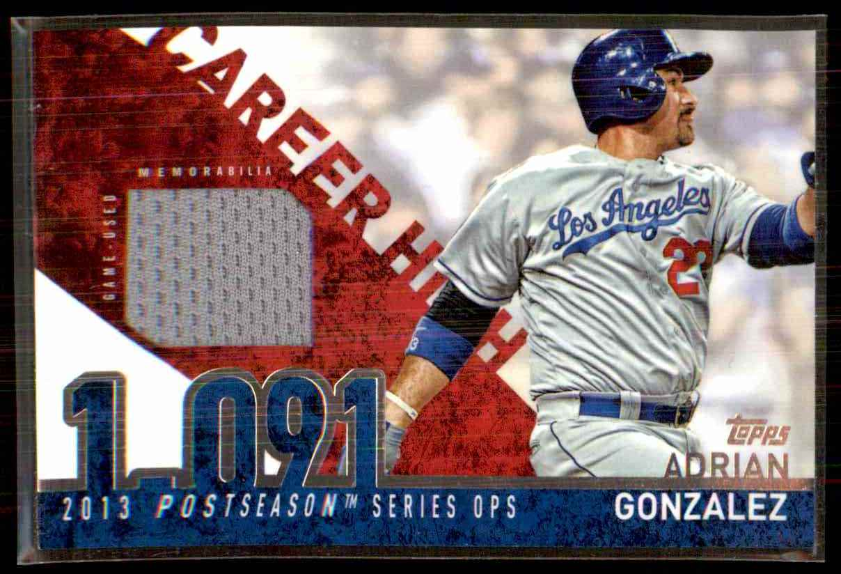 2015 Topps Career High Relics Adrian Gonzalez S2 #CHRAG card front image