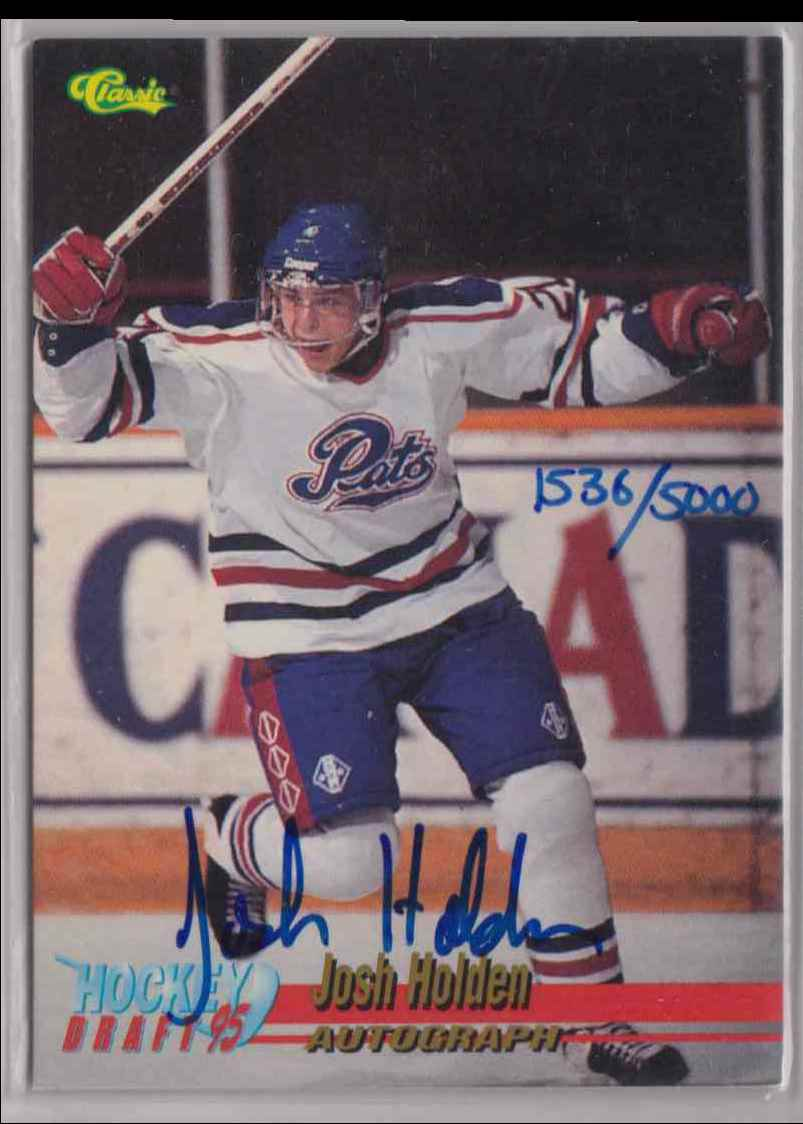1995-96 Classic Autographs Josh Holden #8 card front image