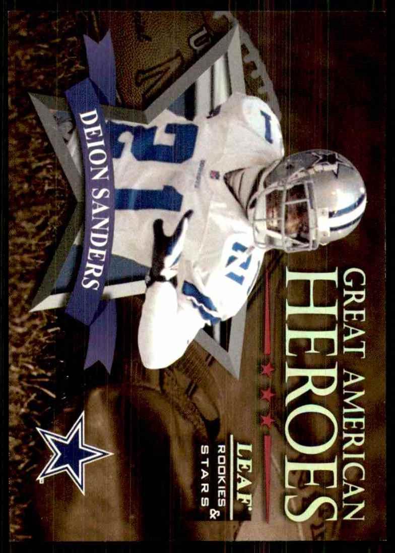 1998 Leaf Rookies & Stars Great American Heroes Deion Sanders #18 card front image